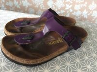 Purple Birkenstocks Size 3/36