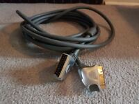 5m GOLD CONNECTIONS, THICK CABLE, extra long Scart cable