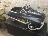 Vintage Chevy Hot rod Chrysler go-kart Car made of metal