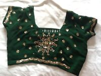 Red and Green Sari For Sale