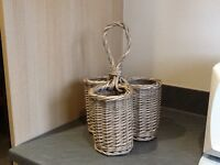 Lovely wicker wine rack used only once