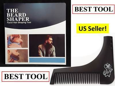 Beard Shaping Tool THE BEST BEARD SHAPER Facial Groomer comb template New (Best Facial For Men)