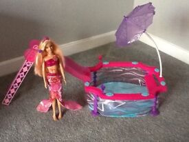 Mermaid/beach Barbie doll and swimming pool