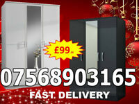 WARDROBES BRAND NEW ROBES TALLBOY WARDROBES FAST DELIVERY 3422