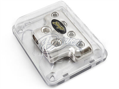 Stinger 1/0 AWG to 4 Gauge Power / Ground Amp Wire Distribution Block SPD514