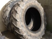 TRACTOR TYRES 20.8/38 (520/85/38) PIRELLI TM600 RADIALS WITH 40% TREAD GOOD CONDITION £375 FOR BOTH