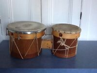 "Home made bongos - 10"" and 8"" heads"