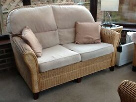 Conservatory sofa, chairs, foot stool and tables