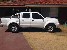 2003 Nissan Navara Ute D22 Turbo diesel Twin cab white - good con Stirling Stirling Area Preview