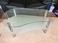 2 Tier Glass Coffee Table