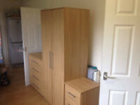 selling a wardrobe chest of drawers bedside drawers complete set *need to pick up*