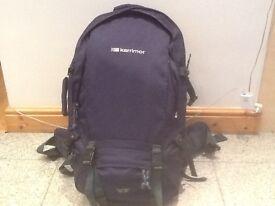 Karrimor Global 50 to 70 litre capacity expander travel rucksack-heavy duty construction