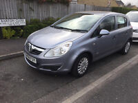 58 PLATE VAUXHALL CORSA LIFE 1.2 PETROL 5 DOOR HATCHBACK LADY OWNER, ONLY 78K FULL SERVICE HISTORY,