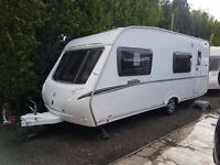 Abbey Vogue 540 6 Berth caravan 2008 ,FIXED BUNK BEDS, AWNING, BARGAIN !