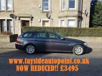 BMW 318D TOURING, FULL LEATHER, MOT FEB 2019****** FULL SERVICE HISTORY ONLY £3495