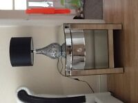 Mirrored 2 piece dresser and bedside cabinet. Excellent condition