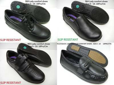 Women Soft Comfy Walking Work Shoes Non Slip Resistant PU Leather Loafer Lace Up