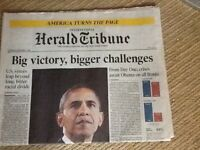Obama,s first election newspaper