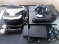 PS4 PRO Console + Full PS VR Bundle Camera and Move Controllers