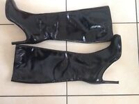 LADIES HOBBS LONG BLACK LEATHER BOOTS size 5 worn just indoors immaculate