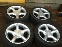 Ford alloys with great tyres 215/40/16 ,4 stud .