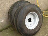 TRACTOR FRONT WHEELS 6 STUD HEAVY DUTY RIMS WITH 1000/16 TYRES FIT MASSEY FORD INTERNATINAL ETC £175