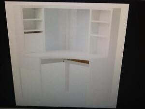 IKEA corner desk with hutch and chair Oakleigh South Monash Area Preview