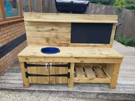 Mud kitchen for sale brand new. Hand built
