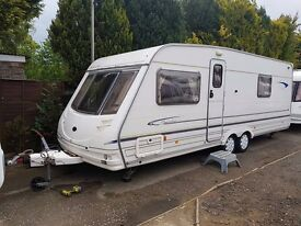 Sterling Eccles Elite Searcher 4 berth caravan, FIXED BED, TWIN AXLE, BARGAIN !!