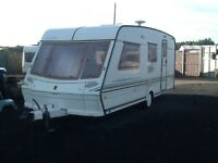 1997 abbey vogue GTS 417 /4 berth end changing room with awning