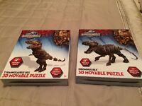 T-Rex and Indominus Rex 3D moveable puzzles