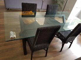 Solid wood furniture / Glass Table / Wooden Side Table