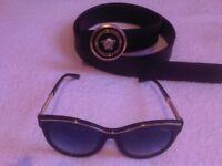 Belt Color Black / Gold + Sunglasses 01