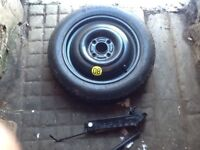 Ford Focus spare wheel with new Goodyear tyre