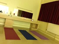 Town centre space for use a few hours a week to teach yoga.