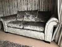Crushed velvet 3 seater and armchair excellent condition :)