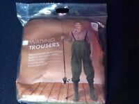 XL Wading trousers with attached boots (brand new still in packaging)