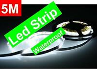 LED LIGHTS WATERPROOF INTERIOR DECORATION DIY 5M LIGHT STRIPS 300 BULBS FLEXIBLE FOR CAR AND HOME