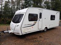 Lunar Clubman SB 4 Caravan 2012 FIXED SINGLE BEDS, MOTOR MOVER, AWNING !!