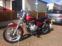 Lexmoto Arizona 125cc motorcycle-only 37 miles