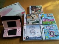 Nintendo DS Lite in pink comes with 5 games