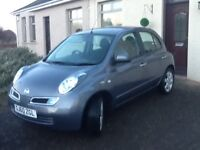 Nissan micra very low mileage,showroom condition.