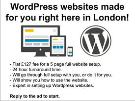 WordPress websites made for £127 right here in London!