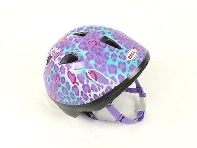 BELL, Girls Bike-Skate Helmet, Cheetah Print, Color: Blue/Purple, Infant.