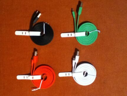 NEW 4x Lightning USB Cables Coloured
