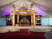 Wedding stage,wedding decoration,Indian wedding, wedding mandap,mendhi,