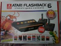 Atari flashback 6 retro gaming console. Hardly used, still have box, excellent working condition