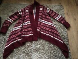 Matalan papaya thick cardigan size small