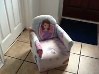 Childs padded armchair
