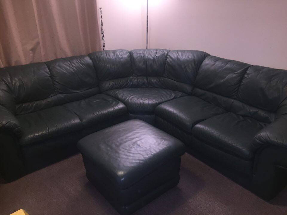7 seater leather corner sofa in newham london gumtree for Leather sofa 7 seater